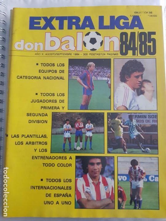 EXTRA LIGA DON BALON 84 85 (Coleccionismo Deportivo - Revistas y Periódicos - Don Balón)