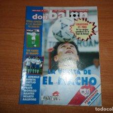 Coleccionismo deportivo: DON BALON 932 HUGO SANCHEZ RAYO VALLECANO POSTE PROSINECKI REAL MADRID MONACO NANTES CORTIJO SEVILLA. Lote 130908944
