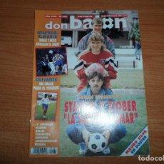 Coleccionismo deportivo: DON BALON 935 ATLETICO VS REAL MADRID POSTE MAURO SILVA DEPORTIVO MERIDA SHERINGHAM TOTTENHAM BRASIL. Lote 130909584
