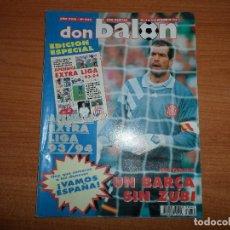 Coleccionismo deportivo: DON BALON 942 APENDICE EXTRA LIGA 93 94 POSTER SPORTING DE GIJON ALEJANDRO ALBACETE ZIEGE BAYERN . Lote 130912424