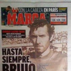 Coleccionismo deportivo: MARCA, FALLECIMIENTO DEL FUTBOLISTA QUINI: EL BRUJO. Lote 130953848