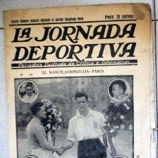 Coleccionismo deportivo: LA JORNADA DEPORTIVA NUMERO EXTRA FÚTBOL PARTIDO GUIPUZCOA PARIS - AÑOS 20 - ALCANTARA FC BARCELONA. Lote 131006364