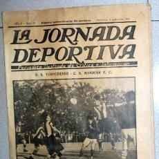 Coleccionismo deportivo: LA JORNADA DEPORTIVA NUMERO EXTRA FÚTBOL TROPEZIENNE CS MANRESA - NATACION VINTAGE - AÑO 1922. Lote 131007024