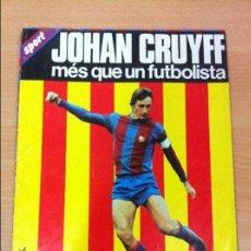 Coleccionismo deportivo: PÓSTER DE FÚTBOL DEL DIARIO SPORT - FCB - 100 X 65 CMS - ESPECIAL JOHAN CRUYFF (1977). Lote 131249235