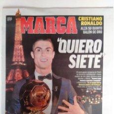Coleccionismo deportivo: MARCA: CRISTIANO RONALDO GANA SU QUINTO BALÓN DE ORO. Lote 131317218