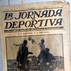 Coleccionismo deportivo: LA JORNADA DEPORTIVA Nº58 SEPTIEMBRE 1922 FC BARCELONA - FC MARTINENC - FUTBOL VINTAGE - NATACION. Lote 131386366