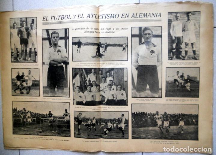 Coleccionismo deportivo: LA JORNADA DEPORTIVA Nº63 Septiembre 1922 FÜRTH WAKER MUNCHEN ALEMANIA GERMANY FUTBOL VINTAGE - Foto 2 - 131535242