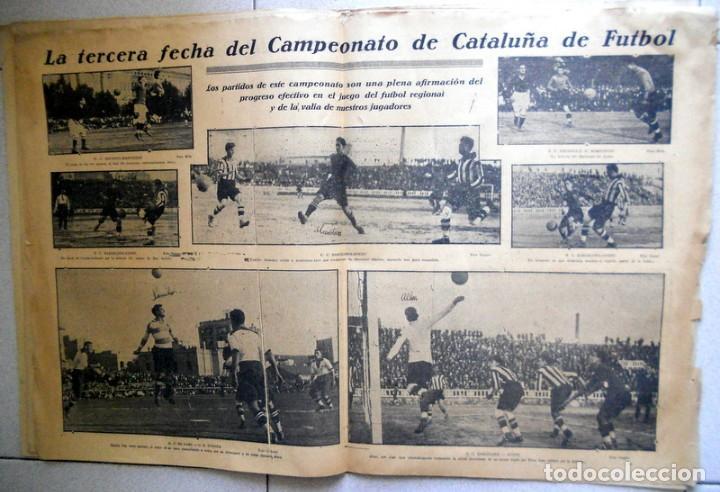 Coleccionismo deportivo: LA JORNADA DEPORTIVA Nº72 Octubre 1922 CE SABADELL CD EUROPA COPA CATALUÑA - FUTBOL VINTAGE - MARCHA - Foto 2 - 131535750