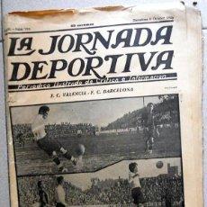 Coleccionismo deportivo: LA JORNADA DEPORTIVA Nº195 OCTUBRE 1923 FC VALENCIA FC BARCELONA LAS CORTS POSTER FUTBOL VINTAGE. Lote 131536126