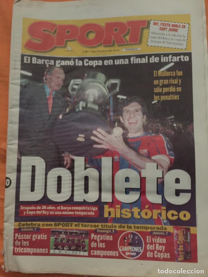 SPORT 30/4/1998. FINAL COPA. FC BARCELONA V MALLORCA (Coleccionismo Deportivo - Revistas y Periódicos - Sport)
