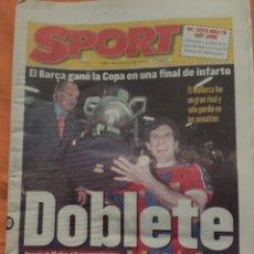 Coleccionismo deportivo: SPORT 30/4/1998. FINAL COPA. FC BARCELONA V MALLORCA. Lote 131627791