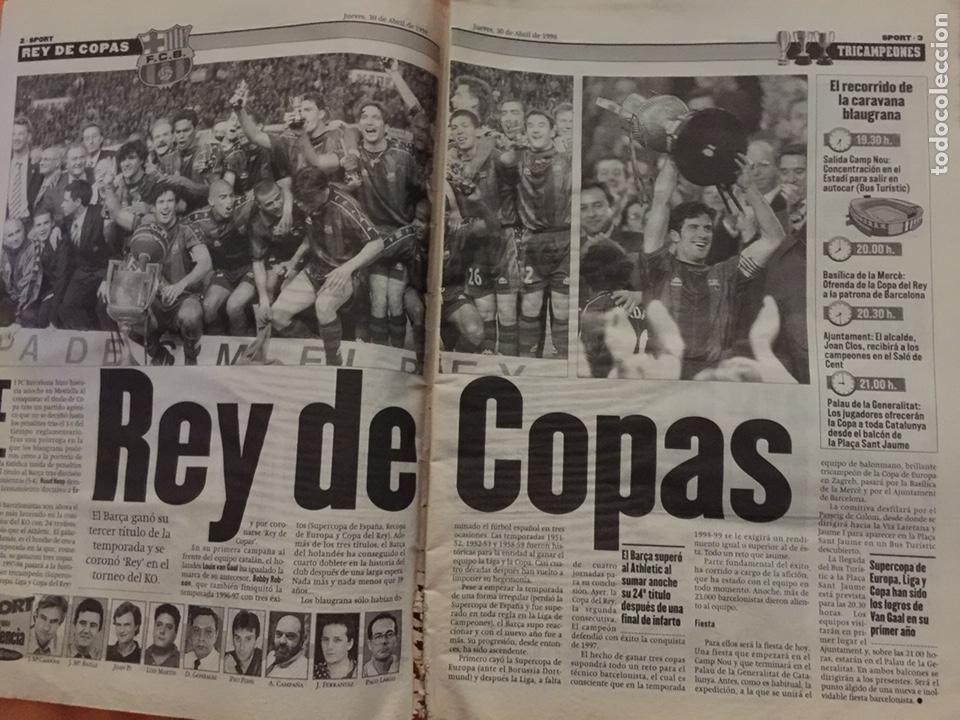 Coleccionismo deportivo: Sport 30/4/1998. Final Copa. FC Barcelona v Mallorca - Foto 2 - 131627791
