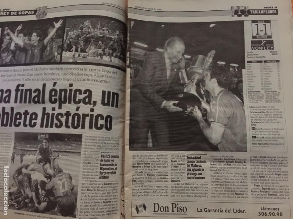 Coleccionismo deportivo: Sport 30/4/1998. Final Copa. FC Barcelona v Mallorca - Foto 3 - 131627791