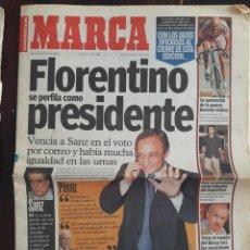 Coleccionismo deportivo: DIARIO MARCA HISTORICO-17 Y 18 DE JULIO DEL 2000-FLORENTINO PRESIDENTE-DOS NUMEROS. Lote 131634266