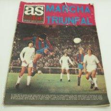 Coleccionismo deportivo: REVISTA AS COLOR NÚM 144, 19 DE FEBRERO DE 1974 REAL MADRID 0 - FC BARCELONA 5. Lote 131683846