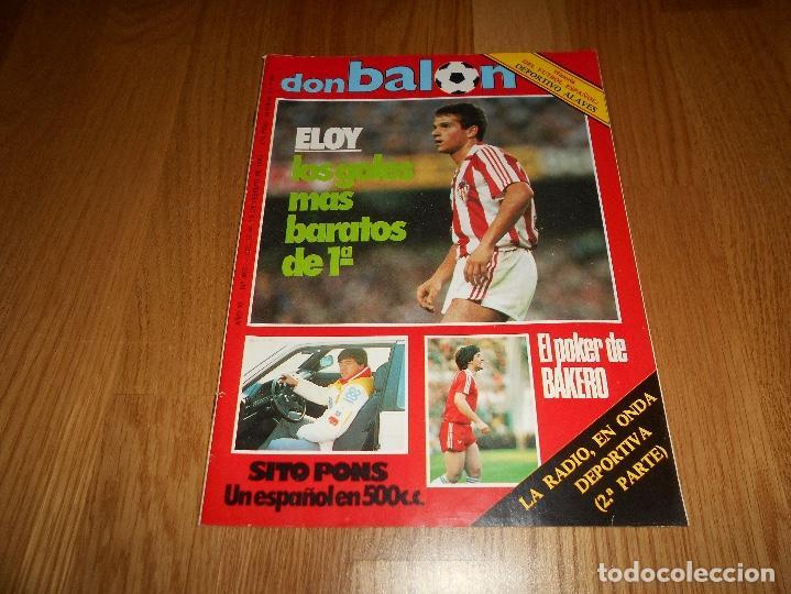DON BALON 487 COLOR MOTOCICLISMO SITO PONS - BAKERO REAL SOCIEDAD ABLANEDO SPORTING- BASKET BREOGAN (Coleccionismo Deportivo - Revistas y Periódicos - Don Balón)
