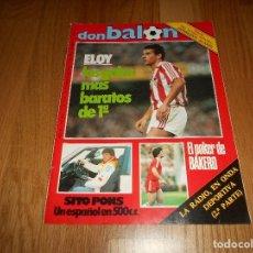 Coleccionismo deportivo: DON BALON 487 COLOR MOTOCICLISMO SITO PONS - BAKERO REAL SOCIEDAD ABLANEDO SPORTING- BASKET BREOGAN. Lote 132076786