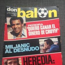 Coleccionismo deportivo: DON BALON NÚMERO 74 - PEREIRA - MILJANIC - HEREDIA. Lote 132093453