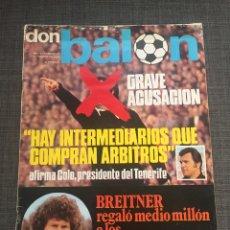 Coleccionismo deportivo: DON BALON NÚMERO 18 - BREITNER - KUBALA - REXACH - PANADERO DÍAZ. Lote 132094385