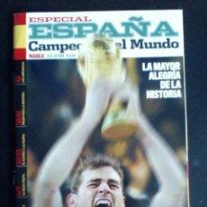 Coleccionismo deportivo: ESPECIAL ESPAÑA CAMPEONA DEL MUNDO SUDAFRICA 2010 MARCA-EL MUNDO. Lote 132133229