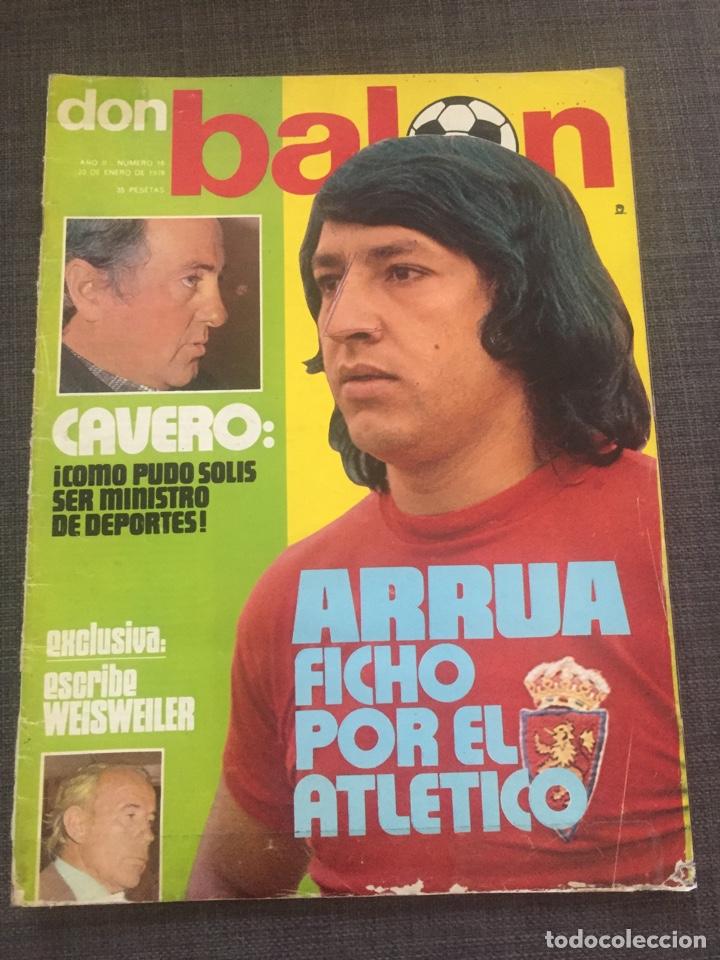 DON BALON NÚMERO 16 - VICENTE CALDERÓN - NETZER - ARRUA (Coleccionismo Deportivo - Revistas y Periódicos - Don Balón)