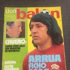 Coleccionismo deportivo: DON BALON NÚMERO 16 - VICENTE CALDERÓN - NETZER - ARRUA. Lote 132151213