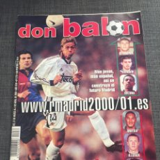 Coleccionismo deportivo: DON BALON NÚMERO 1276 - PÓSTER HASSELBAINK - REAL MADRID - MOLINA - SPORTING - COPAS EUROPEAS. Lote 132193026