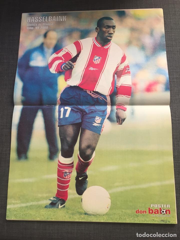 Coleccionismo deportivo: Don Balon número 1276 - póster Hasselbaink - Real Madrid - Molina - Foto 2 - 132193026
