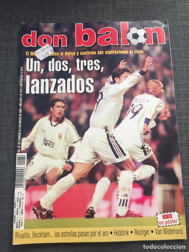 DON BALON NÚMERO 1272 - PÓSTER KIKO - REAL MADRID (Coleccionismo Deportivo - Revistas y Periódicos - Don Balón)