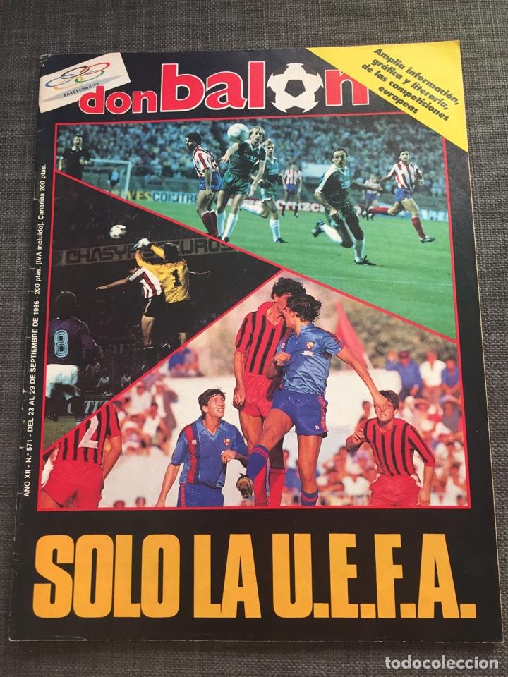 DON BALON NÚMERO 571 - COPAS EUROPEAS - REAL MADRID - ATLÉTICO - ZARAGOZA (Coleccionismo Deportivo - Revistas y Periódicos - Don Balón)
