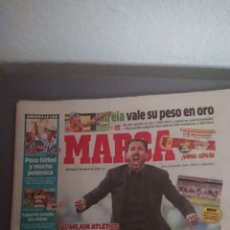 Coleccionismo deportivo: DIARIO PERIÓDICO MARCA MÁS CARTEL PÓSTER ATLÉTICO DE MADRID CAMPEON DE LA SUPERCOPA DE ESPAÑA 2014. Lote 132224973