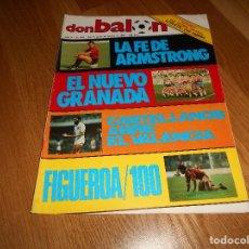 Coleccionismo deportivo: DON BALON Nº 437 1984 FASCICULO ATHLETIC BILBAO - REPORTAJE COLOR GRANADA CF FIGUEROA MURCIA. Lote 132245314