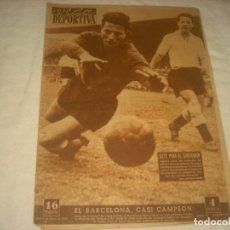 Coleccionismo deportivo: VIDA DEPORTIVA Nº 340, MARZO DE 1952 . EL BARÇA CASI CAMPEON.. Lote 132304758