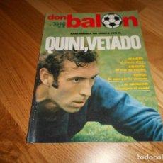 Coleccionismo deportivo: DON BALON 294 1 JUNIO 1981 QUINI VETADO JUANITO SHOW ALMERIA CABEZA ORELLUT POSTER ASCENSO CASTELLON. Lote 132316934