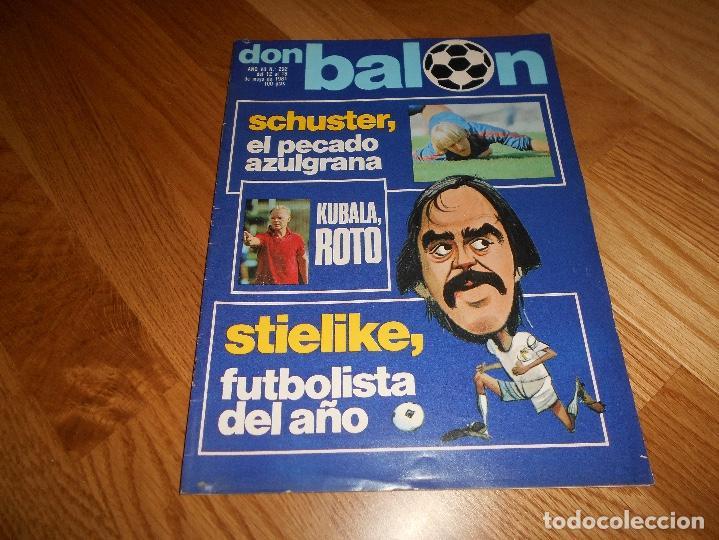 REVISTA DON BALON Nº 292 - AÑO VII 12 AL 18 MAYO DE 1981 STIELIKE REAL MADRID. (Coleccionismo Deportivo - Revistas y Periódicos - Don Balón)
