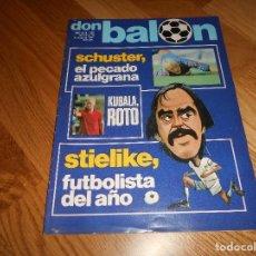 Coleccionismo deportivo: REVISTA DON BALON Nº 292 - AÑO VII 12 AL 18 MAYO DE 1981 STIELIKE REAL MADRID.. Lote 132333466