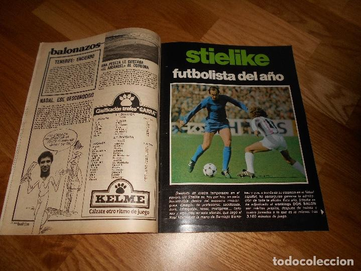 Coleccionismo deportivo: REVISTA DON BALON Nº 292 - AÑO VII 12 AL 18 MAYO DE 1981 STIELIKE REAL MADRID. - Foto 2 - 132333466