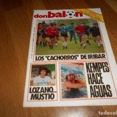 Coleccionismo deportivo: REVISTA DON BALÓN NÚMERO 441- 20-26 MARZO 1984- FASCÍCULO REAL SOCIEDAD, PÓSTER ATHLETIC BILBAO.. Lote 132333882
