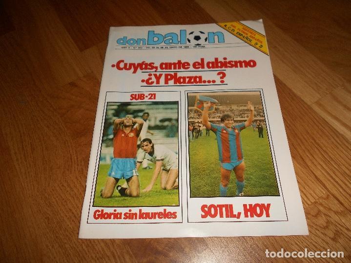 OCASION UNICA COLECCIONISTAS REVISTA DON BALON UNICA Nº 450 1984 CAMPEON RECOPA JUVENTUS Y FASCICULO (Coleccionismo Deportivo - Revistas y Periódicos - Don Balón)
