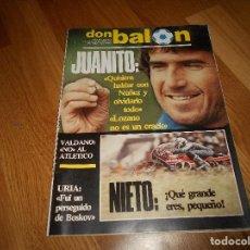 Coleccionismo deportivo: DON BALON Nº 409 1983 REPORTJE COLOR PLANTILLAS BARCELONA ZARAGOZA ESPAÑOL Y SPORTING GIJON 83 84. Lote 132378954