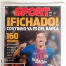 Coleccionismo deportivo: SPORT: FICHAJE DE COUTINHO. Lote 132445698
