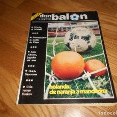 Coleccionismo deportivo: DON BALON Nº 383 1983 COLOR CENTRALES GOICOECHEA ATHLETIC URIA SPORTING GIJON CROMOS LAS PALMAS. Lote 132463926