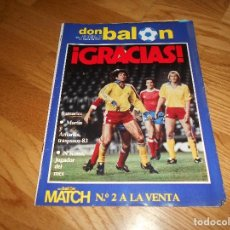 Coleccionismo deportivo: REVISTA DON BALÓN NÚMERO 379- AÑO VIII 4 AL 10 ENERO 1983- INCLUYE CROMOS ATLÉTICO DE MADRID. Lote 132465742