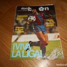 Coleccionismo deportivo: DON BALON Nº 412 1983 REPORTAJE COLOR MURCIA - TROFEO JOAN GAMPER BARCELONA VS NOTTINGHAM. Lote 173510048