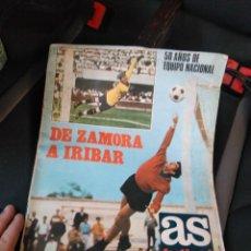 Coleccionismo deportivo: REVISTA ESPECIAL AS DE ZAMORA A IRIBAR . Lote 132573658