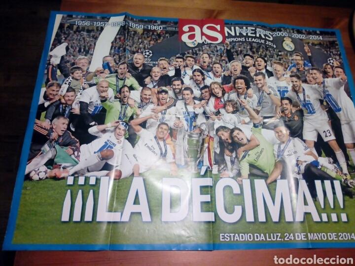 b37950eedb POSTER REAL MADRID PERIÓDICO AS LA DECIMA CHAMPIONS LEAGUE (Coleccionismo  Deportivo - Revistas y Periódicos ...