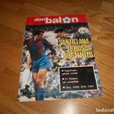 Coleccionismo deportivo: DON BALON Nº 381 1983 PORTADA COLOR SANTILLANA BARCELONA-NOTTINGHAM FOREST RACING SANTANDER CROMOS. Lote 132651942