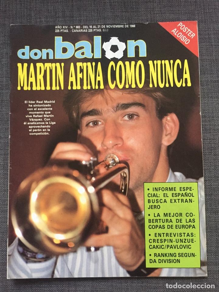 DON BALON NÚMERO 683 - MARTIN VÁZQUEZ - PÓSTER ALOISIO - COPAS EUROPEAS - ESPANYOL (Coleccionismo Deportivo - Revistas y Periódicos - Don Balón)