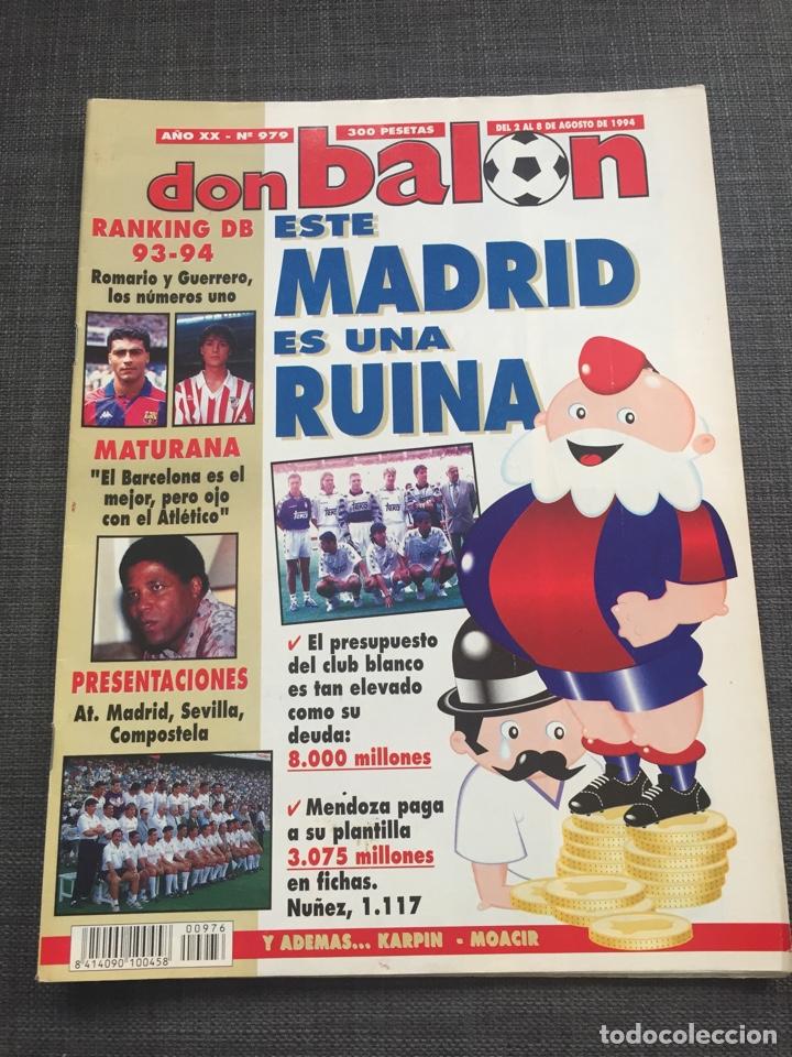 DON BALON 979 - REAL MADRID - ROMARIO - MATURANA - KARPIN - ATLÉTICO (Coleccionismo Deportivo - Revistas y Periódicos - Don Balón)