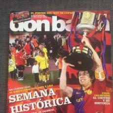 Coleccionismo deportivo: DON BALON 1752 - ESPECIAL DOBLETE FC BARCELONA - INCLUYE PÓSTER - ATHLETIC - MANCHESTER UNITED. Lote 132709134